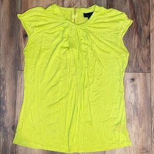 Lime green zipper top